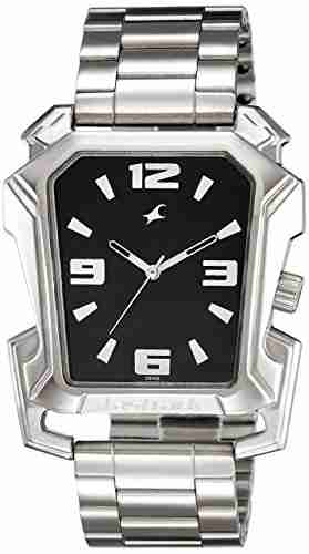 Fastrack 3131SM02C Silver & Black analogue men's Watch