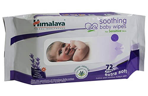 Himalaya Soothing Baby Wipes, 72 Pieces
