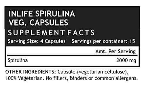 Inlife Spirullina Dietary Supplement 500 mg (60 Capsules)