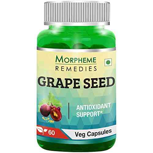 Morpheme Remedies Grape Seed Extract 500mg (60 Capsules)