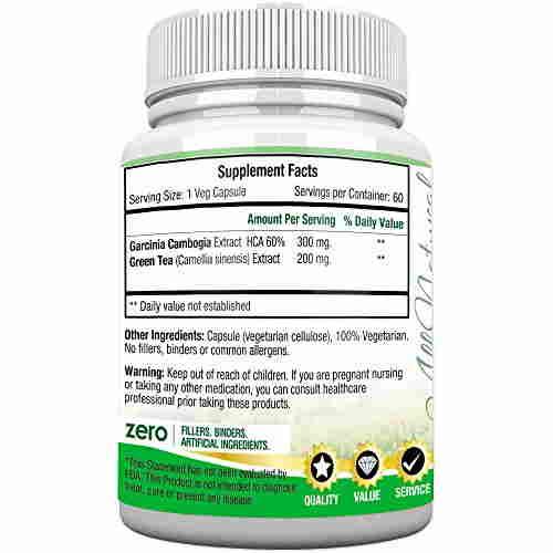 Morpheme Remedies Garcinia Green Tea Extract 500mg (60 Veg Capsules)