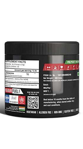 Vigour Fuel Glutamine Amino Acid (300gm)