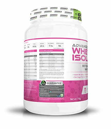 Advance Nutratech Whey Isolate Supplement (1Kg, Vanilla)