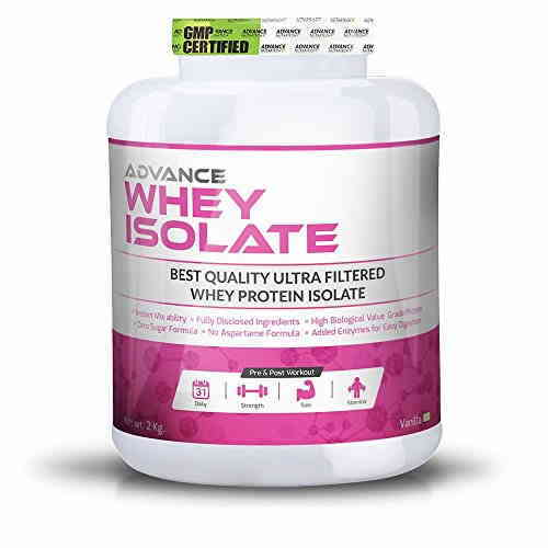 Advance Nutratech Whey Isolate Protein Supplement (2Kg, Vanilla)