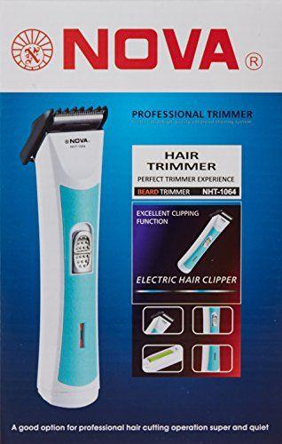 Nova NHT1064 Professional Beard Trimmer White & urquiose