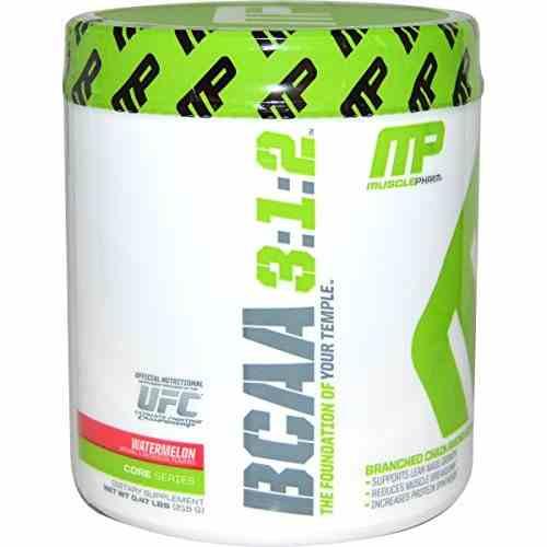 MusclePharm BCAA 3:1:2 Powder (220gm, Watermelon)