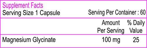 Healthvit Magnesium Glycinate 100mg (60 Capsules)