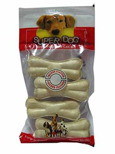 Super Dog Chew Bone Mini 4 Pieces Chicken Dog Treat 140 gm (Pack of 2)