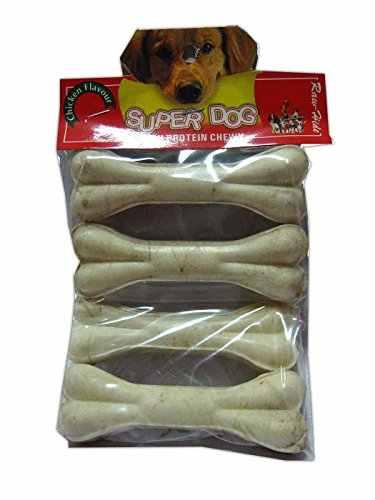 Super Dog Chew Bone Small 4 Pieces Chicken Dog Treat 200 gm (Pack of 2)