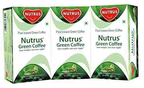 Nutrus Green Coffee Weight Loss Supplement (20 Sachets, Pack of 3)