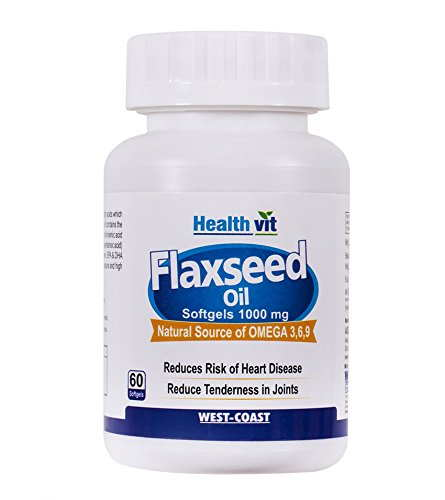 Healthvit Cold-Pressed Flaxseed Oil Omega 3-6-9 1000 mg (60 Capsules)