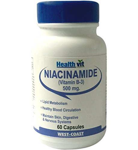 Healthvit Niacinamide Vitamin-B3 500 mg (60 Capsules)