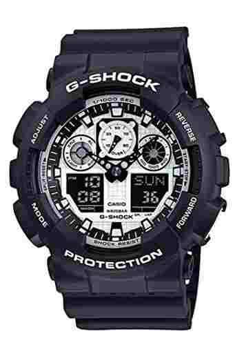Casio G-Shock GA-100BW-1ADR (G619) Analog-Digital White Dial Men's Watch