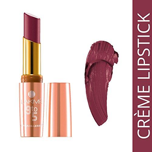 Lakme 9 To 5 Creaseless Creme Lipstick, Cr4 Carmine Kick