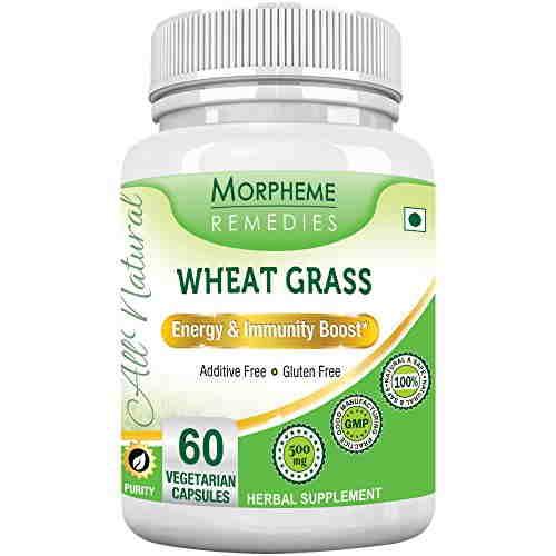 Morpheme Remedies Wheatgrass Supplements 500 mg Extract (60 Veg Capsules)