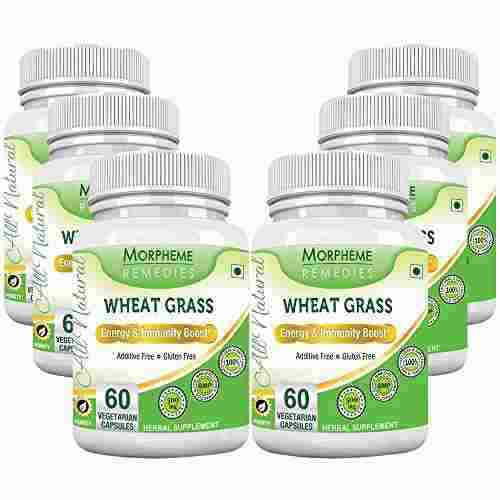 Morpheme Remedies Wheatgrass Supplements 500 mg Extract (60 Capsules) - Pack Of 6