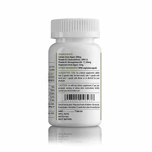 Unived CalDveg, Algal Calcium, Magnesium, Vitamin D3 & K2-7, Complete Bone Health (30 Capsules)