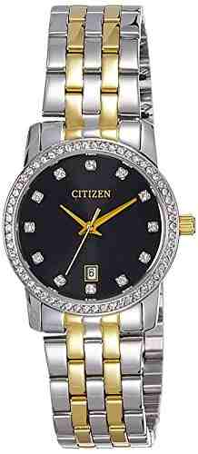 Citizen EU6034-55E Analog Black Dial Women's Watch (EU6034-55E)