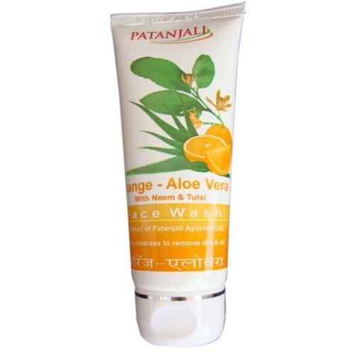 Patanjali Divya Orange Aloe Vera Face Wash, 60 GM