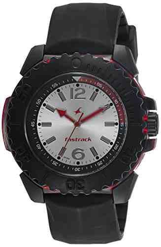 Fastrack NG38020PP04CJ Quartz Silver Round Men's Watch