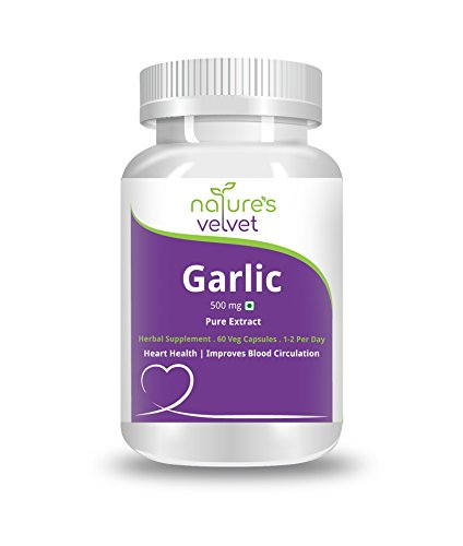 Natures Velvet Pure Extract Garlic 500mg Supplements (60 Capsules)