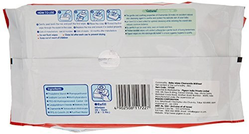 Pigeon Baby Wipes, 80 Pieces (Pack Of 3)