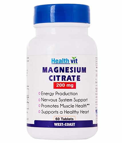 Healthvit Magnesium Citrate 200 mg Supplement (60 Capsules)