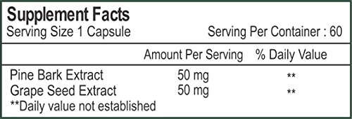Healthvit Pine Bark & Grape Seed Supplements (60 Capsules)