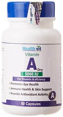 Healthvit Vitamin A Dry 5000 Iu Supplements (60 Capsules)