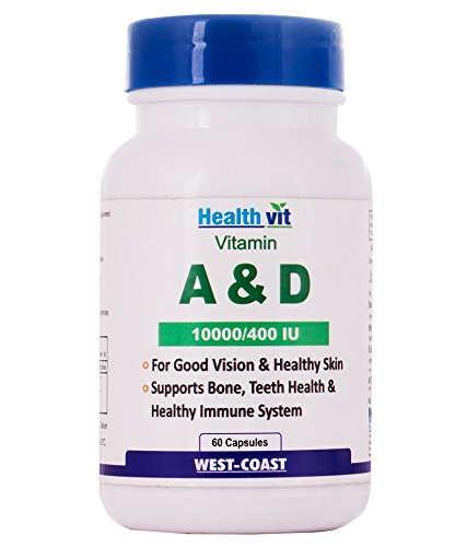 Healthvit Vitamin A&D 10000/400 IU Supplements (60 Capsules)