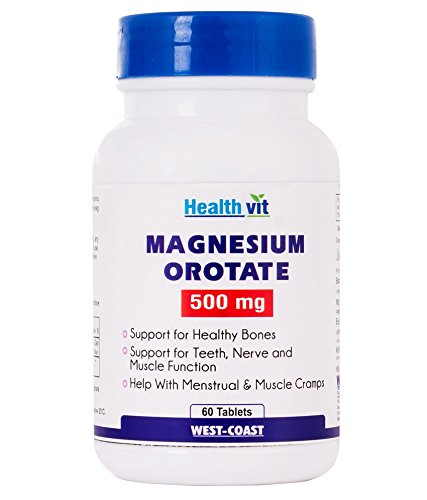 Healthvit Magnesium Orotate 500mg Supplements (60 Capsules)
