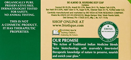 Biotique Almond Oil Nourishing Body Soap, 150 GM