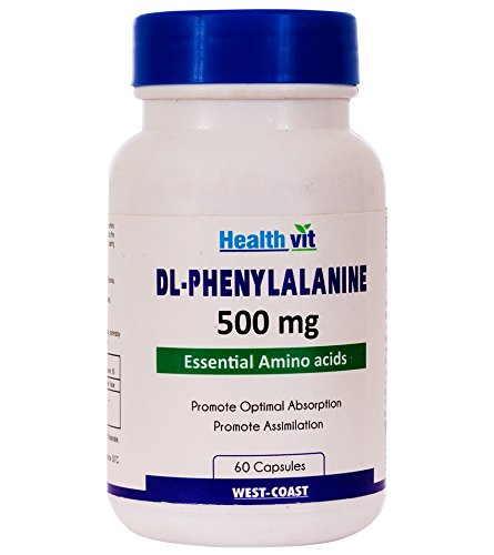 Healthvit DL Phenylalanine 500mg Supplements (60 Capsules)