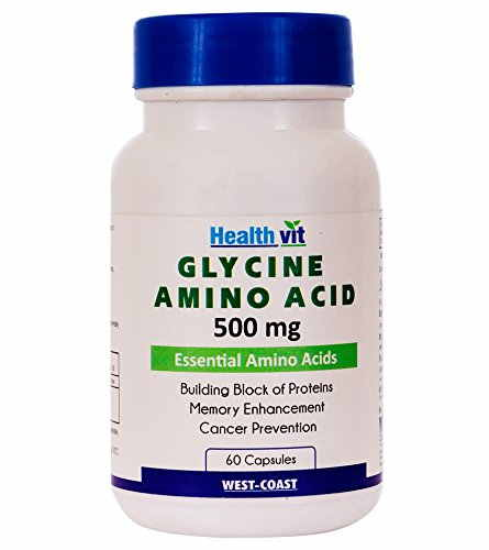 Healthvit Glycine Amino Acid 500 mg Supplements (60 Capsules)