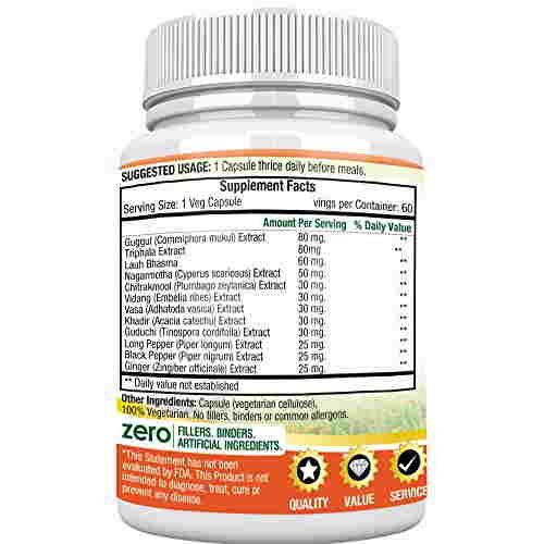 Morpheme Remedies Morslim Z 500 mg Extract Supplements (60 Capsules)