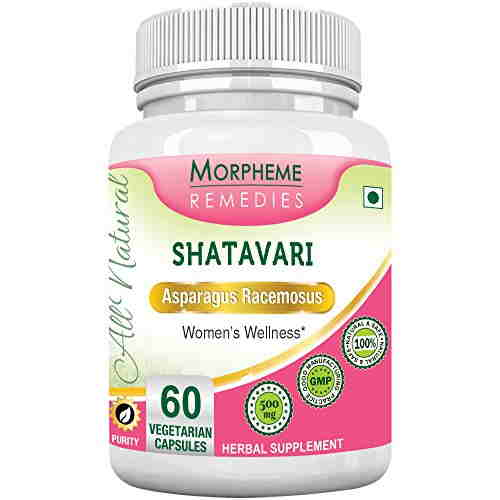 Morpheme Remedies Shatavari 500 mg Extract Supplements (60 Capsules)