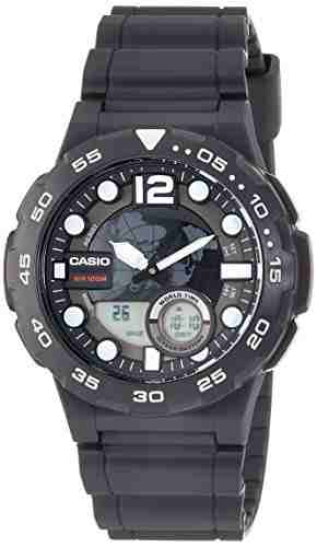 Casio Youth AEQ-100W-1AVDF (AD204) Combination Analog-Digital Black Dial Men's Watch (AEQ-100W-1AVDF (AD204))