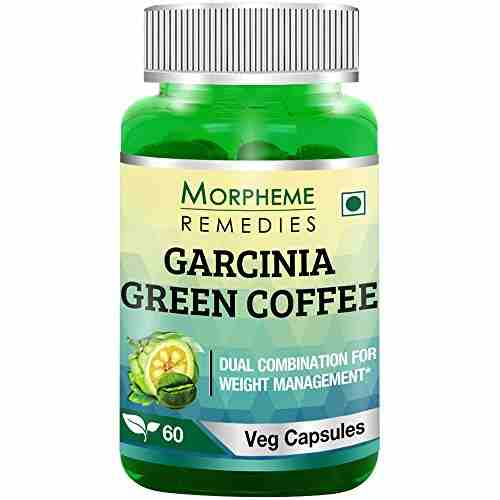 Morpheme Remedies Garcinia Green Coffee Extract 500mg Supplements (60 Capsules)