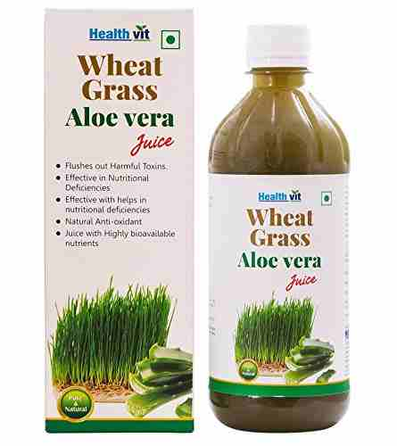 Healthvit Wheat Grass Aloevera Juice (500 ml)