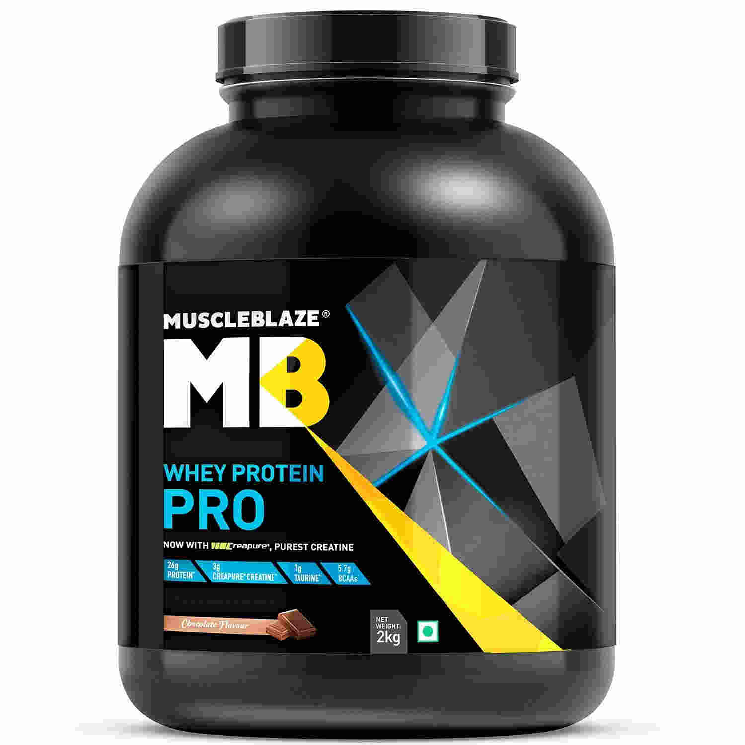 MuscleBlaze Whey Protein Pro with Creapure (2Kg, Chocolate)