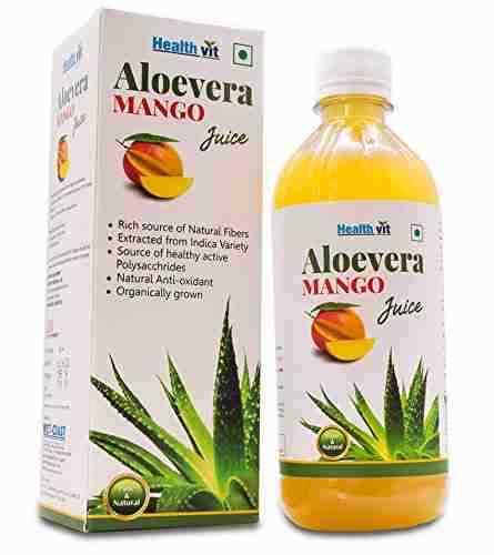 Healthvit 100% Natural Aloevera Juice (500ml, Mango)