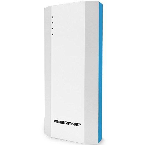 Ambrane P-1111 10000mAH Power Bank (White-Blue)