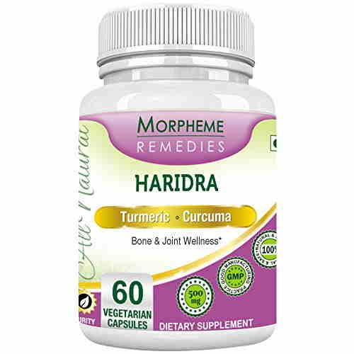 Morpheme Remedies Turmeric Curcumin Haridra 500mg Extract (60 Capsules)