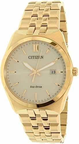 Citizen Eco-Drive BM7332-61P Analog Gold Dial Unisex Watch