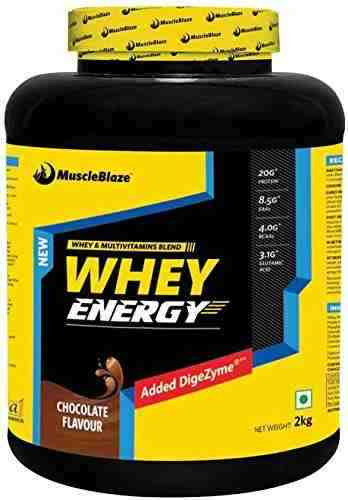 MuscleBlaze Whey Energy (2Kg / 4.41lbs, Chocolate)