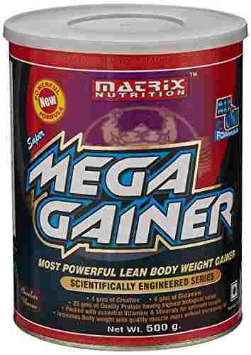 Matrix Nutrition Super Mega Gainer (500gm, Chocolate)