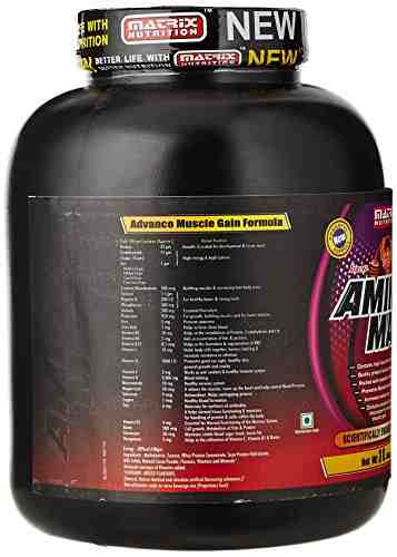 Matrix Nutrition Amino Mass Gainer (3Kg, Chocolate)