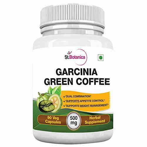 StBotanica Garcinia Green Coffee 500 mg Extract Supplements (90 Capsules, Pack of 3)