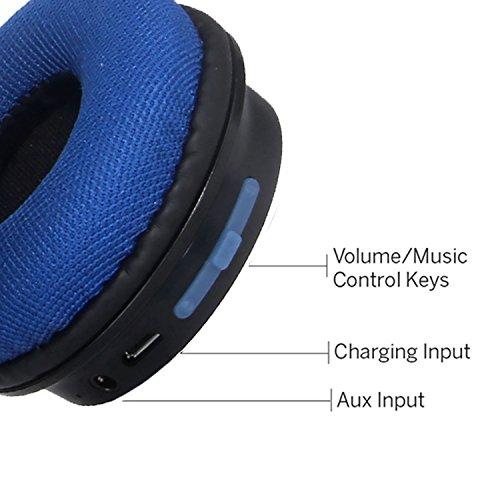 Boat Rockerz 400 Bluetooth On the Ear Headphones, Blue & Black