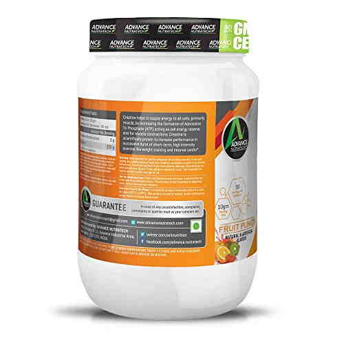 Advance Nutratech Creatine Monohydrate Supplement (300gm, Fruit Punch)